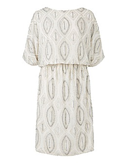 Joanna Hope Blouson Beaded Dress