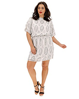 Joanna Hope Blouson Beaded Tunic Dress