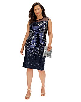 Joanna Hope Scuba Sequin Dress