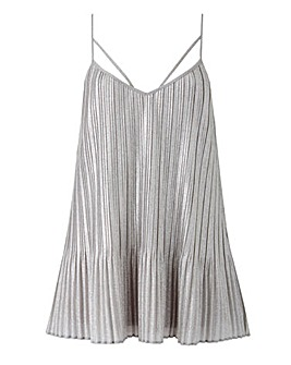 Joanna Hope Metallic Pleat Detail Cami