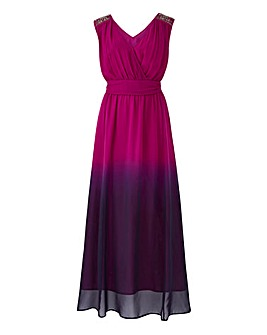 Joanna Hope Maxi Ombre Dress With Jewels