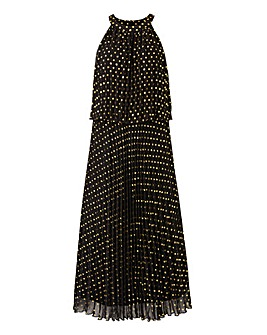Joanna Hope Foil Pleated Maxi Dress