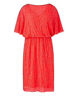 Joanna Hope Beaded Blouson Dress