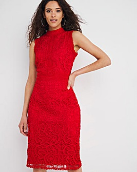 Joanna Hope Red Luxury Lace Shift Dress