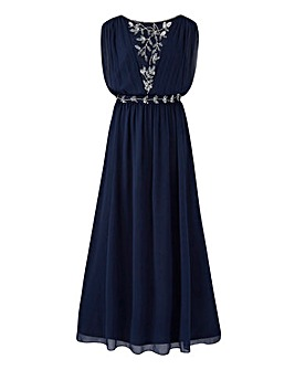 Joanna Hope Grecian Beaded Maxi Dress