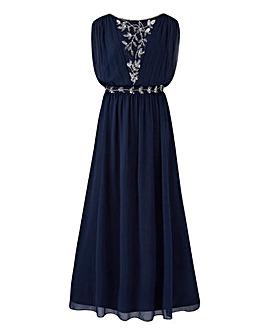 Joanna Hope Grecian Beaded Maxi Dress