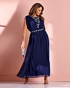 Joanna Hope Grecian Beaded Dress