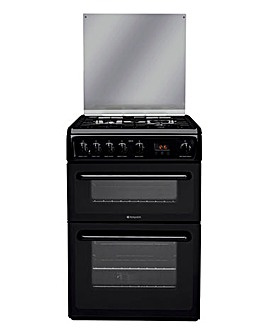 Hotpoint HAGL60K Gas Double Cooker