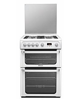 Hotpoint HUG61P Gas Double Cooker