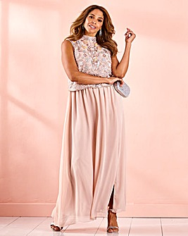 Joanna Hope Beaded Bodice Layer Dress