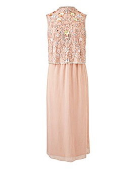Joanna Hope Beaded Bodice Layer Dress