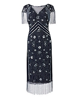 Joanna Hope Fringe Beaded Dress