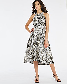 Joanna Hope Jacquard Dip Hem Prom Dress