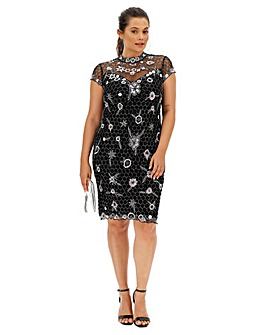 Joanna Hope Beaded Shift Dress