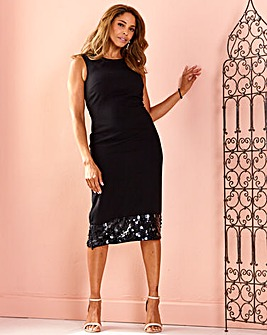Joanna Hope Sequin Hem Dress