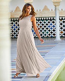 Joanna Hope Pearl Trim Maxi Dress