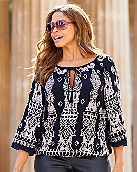 Joanna Hope Sequin Blouson Tunic
