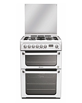 Hotpoint HUD61P Dual Fuel Double Cooker