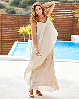 Joanna Hope Drape Plisee Dress