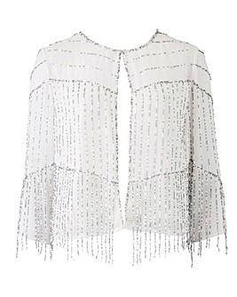 Joanna Hope Beaded Fringe Jacket