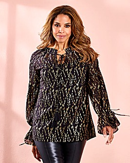 Joanna Hope Metallic Print Tunic