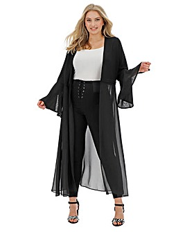 Joanna Hope Plain Longline Sheer Jacket