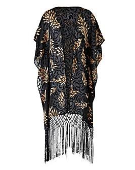 Joanna Hope Jacquard Tassle Kimono