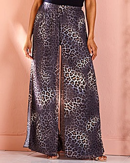 Joanna Hope Leopard Overlay Trousers
