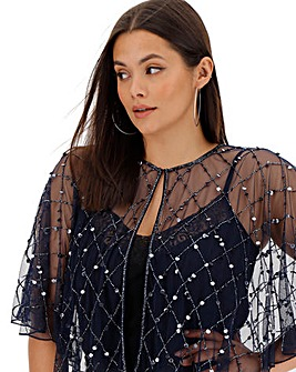 Joanna Hope Sequin Beaded Cover Up
