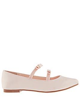 Monsoon Vivienne Satin Double Bow Shoes