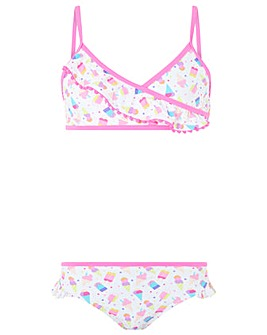 Accessorize Ice Cream Print Bikini