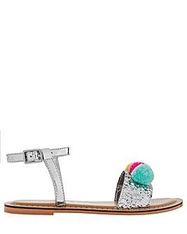 Accessorize Pom Pom Glitter Sandal