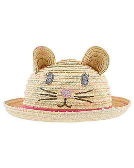 Accessorize Space Dye Cat Bowler Hat