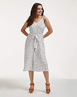 Figleaves Sorrento Spot Strappy Culotte Polka Dot Jumpsuit
