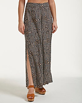 Figleaves Mala Leopard Print Wide Leg Beach Trousers