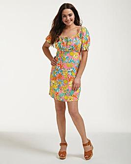Figleaves Miami Puff Sleeve Mini Dress