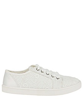 Monsoon Katie Lace Up Bridal Trainer