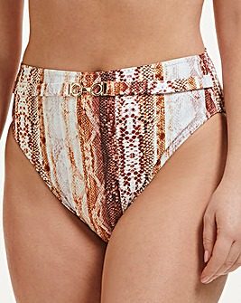 Zagora High Waist High Leg Tummy Control Bikini Bottom