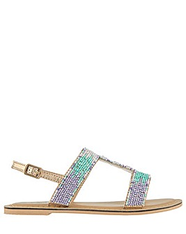 Accessorize Beaded Ombre Mermaid Sandal