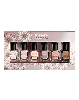 Deborah Lippmann Undressed 6 Piece Nail Polish Set