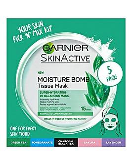 Garnier Sheet Masks Selection Box