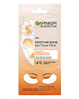 Garnier Eye Sheet Masks With Hyaluronic Acid And Orange Juice - 5 Pairs