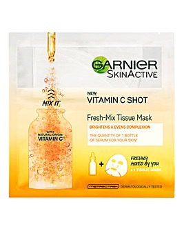 Garnier Fresh Mix Face Sheet Masks With Vitamin C - Pack of 4
