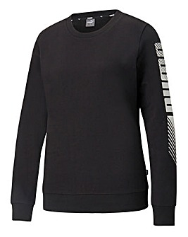 Puma Essential Elongated Grapic Crew Sweatshirt