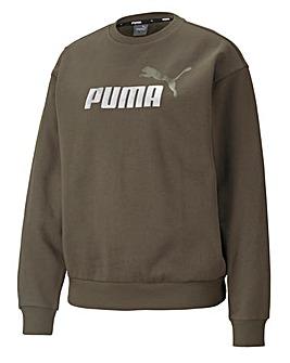 Puma Essential Metallic Logo Crew Sweatshirt