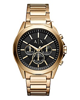Armani Exchange Drexler Gold Chrono Bracelet Watch
