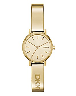 DKNY Ladies Soho Half Bangle Gold Watch