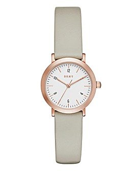 DKNY Ladies Minetta Leather Strap Watch