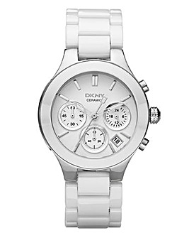 DKNY Ladies White Bracelet Watch