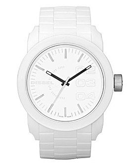 DIESEL Unisex White Silicone Watch